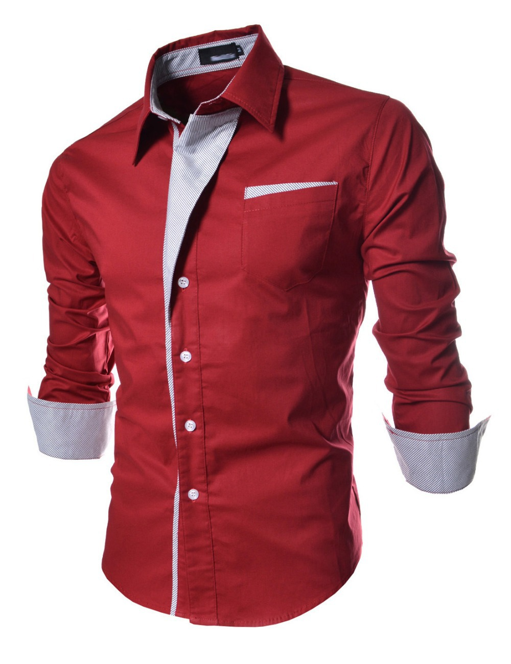 2015 new fashion Casual Men Shirts Long Sleeve Autumn great Brand Cotton Slim High Quality shirt