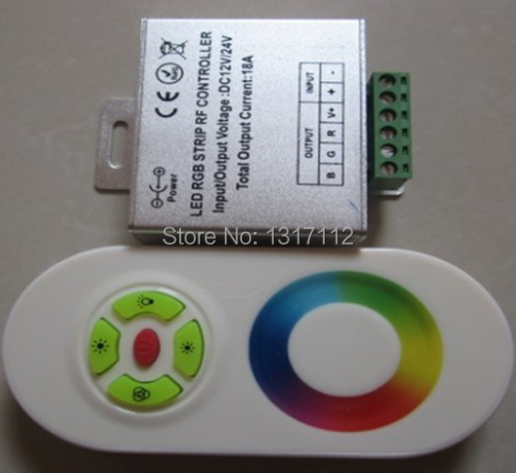 Wireless RF Touch Panel LED RGB Dimmer Remote Controller For RGB LED Strip,30M Effective Remote Distance(China (Mainland))