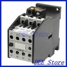 CJ20-25 3 Poles 3 Phase 2NO 2NC 25 Amp 24 Volts Motor Control AC Contactor