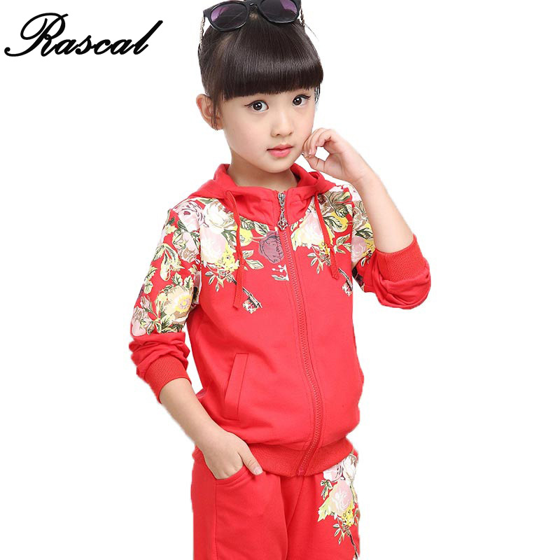 2016 New Arrivals Spring Or Autumn Girls Clothing Sets Korean Version Vetement Enfant Sports Children Clothing Sets For Girls<br>