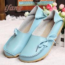 New Arrive Flats Women Four Seasons 2015 Casual Shoes Women Flat Heel Cow Muscle Outsole Fashion Flat Women GenuineLeather Shoes(China (Mainland))