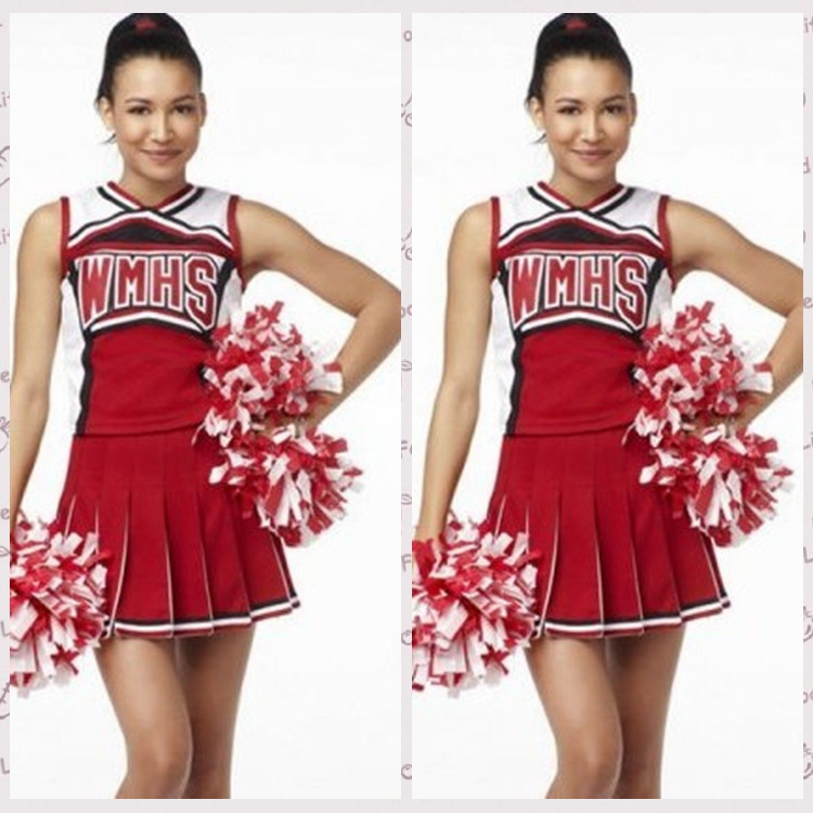 100% Quality goods Wholesale American New basketball Cheerleaders Sexy Costumes fashion School Sports Uniforms Free Shipping(China (Mainland))