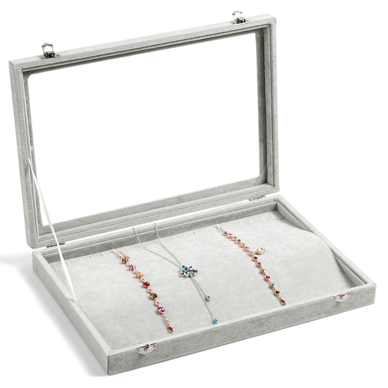 A255-2 Top Grade Velvet Jewelry Box Display Large for Chain Bracelet or Short Necklace 20 units, 35*24*4.5 cm, 1015 g(China (Mainland))