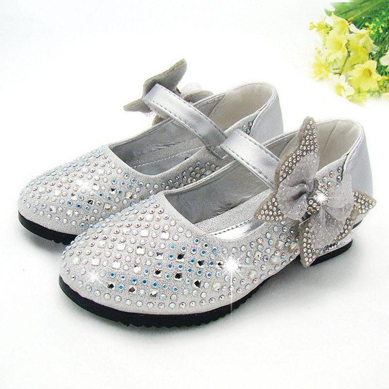 New 2016 children princess shoes girls sequins girls for Girls dress shoes for wedding