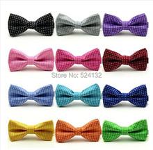 Classic Fashion Boy Kid Child Polka Dot Party Wedding Tuxedo Bowties Tie Necktie