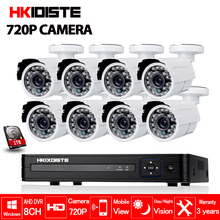 Buy HD 8CH CCTV System 1080P HDMI AHD 8CH CCTV DVR 8PCS 1.0 MP IR Outdoor waterproof Security Camera 720P Camera Surveillance System for $279.29 in AliExpress store