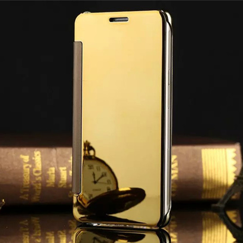 Luxury view window flip phone cover case for samsung for Application miroir iphone
