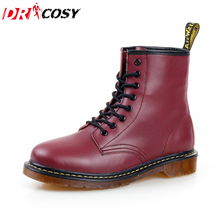 Fashion Winter Leather Dr Martin Boots Fur Martin High Top Casual Shoes Men's Boots Ankle Botas Brand Motorcycle Boots Plus Size