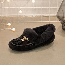 Nieuwe vrouwen schoenen gemaakt van lederen snowboots winter laarzen voor vrouwen winter natuurlijke huid 100% natuurlijke wol enkellaarsjes wome(China)