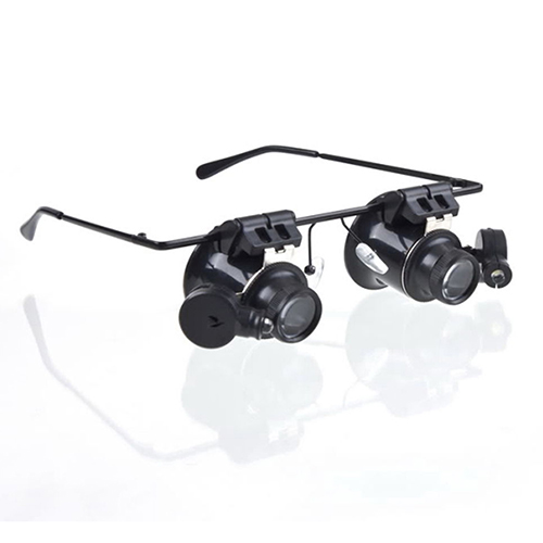 20x Magnifier Magnifying Glasses Loupe Lens Loupe Jeweler Watch Repair LED Light A9GQ