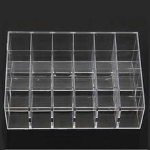 24 Lipstick Holder Display Stand Cosmetic Organizer Makeup Case Cosmetic storage box