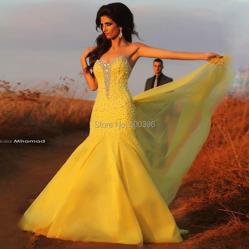 Vintage Looking Yellow Prom Dress