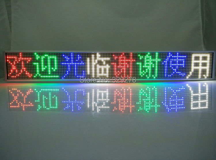 RGB full color led text display panel sign label indoor advertising advertisement LED mini display board Support any language(China (Mainland))