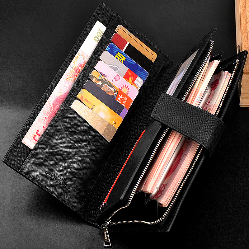 Vanlord leather wallet hand bag leather wallet multifunction large leather zipper bag.<br><br>Aliexpress