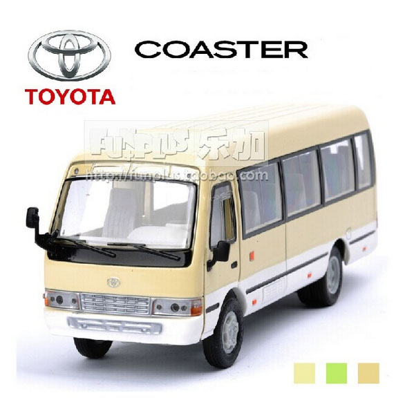 High Simulation Exquisite Model Toys: ShengHui Car Styling Classic Beige Bus Toyota Coaster 1:32 Alloy Bus Model Excellent Gifts(China (Mainland))