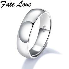 Fate Love Горячая Продажа Элегантный Стерлингового Серебра 925 Unisex Кольца Для Парня Девушку Обручальное Кольцо Мода Регулируемая Ювелирные Изделия Выгравированы FL003(China (Mainland))
