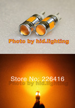 Free shipping,2 x 6000K Amber Orange T10 T15 7.5W Lens LED Q5 High Power Car Signal Tail Turn(China (Mainland))