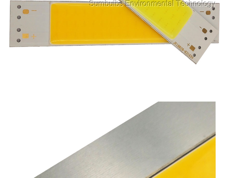 New Arrival 100x20mm 9V 3W Bar COB Lamp LED Chip Strip Light Source Ultra Bright Warm Cold White Chip On Board Bulb