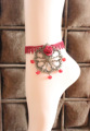 Fashion jewellery-Taboo LOVER European and American retro gothic wind  Artificial gem lace anklets vintage ankle bracelet gift