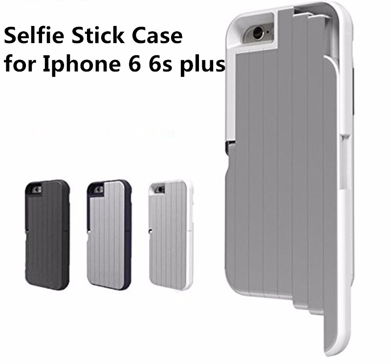 3 in 1 aluminum selfie stick case for iphone 6 6s plus with phone holder back cover coque a. Black Bedroom Furniture Sets. Home Design Ideas