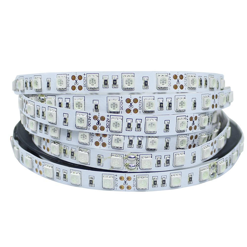 LED Strip 5050 Not Waterproof DC12V 60LEDs/m 5m/lot Flexible LED Light RGB 5050 LED Strip LED Tape Home Decoration Lamps(China (Mainland))