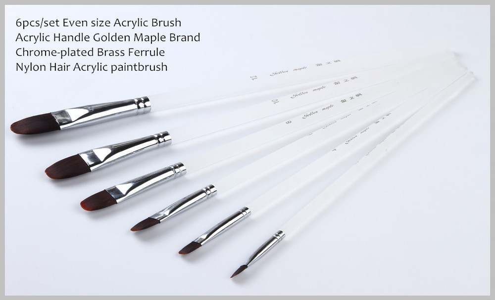6pcs/lot Chinese high-quality Acrylic paint brush set 209 <br><br>Aliexpress