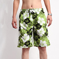 S 2XL Male Flower Printed Beach Shorts Fast Dry Loose Casual Style Large Size Quick drying