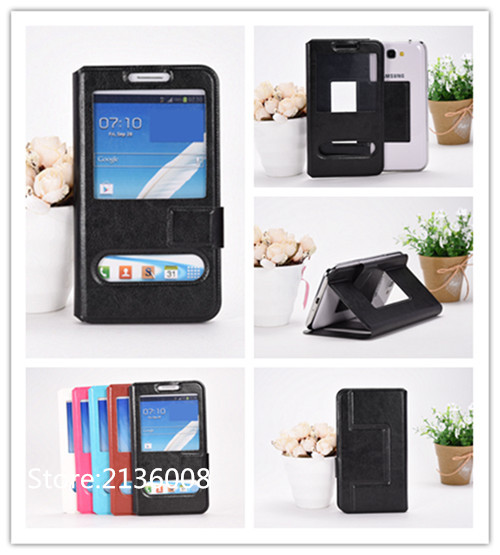 For LG L70 Tri,D340 Case High Qualit Fashion Mobile Phone Leather Case With Big Mobile Window Free Shipping(China (Mainland))