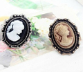 Free shipping aulic beauty head cameo jewelry vintage adjustable ring