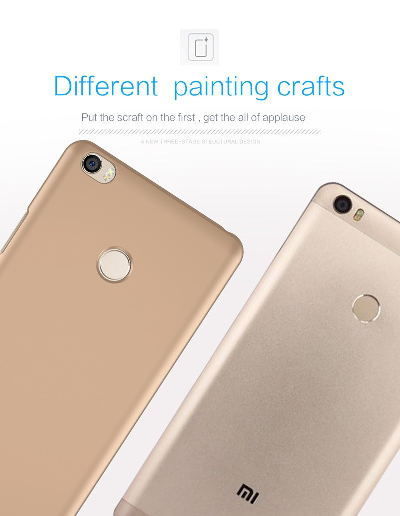 Cell phone wholesale accessory luxury metal paint coating back cover for xiaomi Luxury Metal Case PC Cover Case for xiaomi MAX