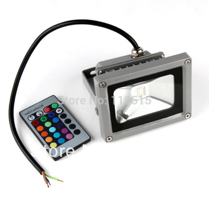 Free shipping 16 Color 10W RGB Flash Landscape Wash Lighting LED Flood led reflector 120 Degrees Aluminum(China (Mainland))