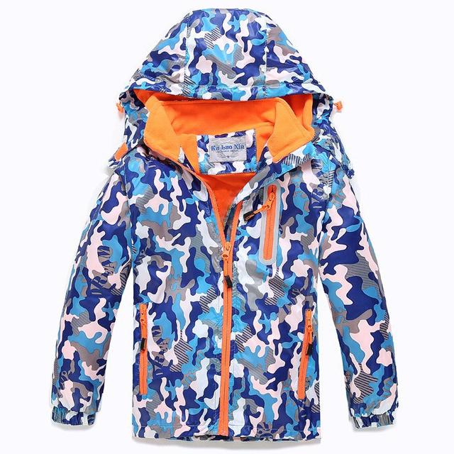 Дети верхняя одежда пальто спортивный детская одежда двухэтажных водонепроницаемый ветрозащитный мальчиков и девочек куртки для 3 - 14 весна и осень