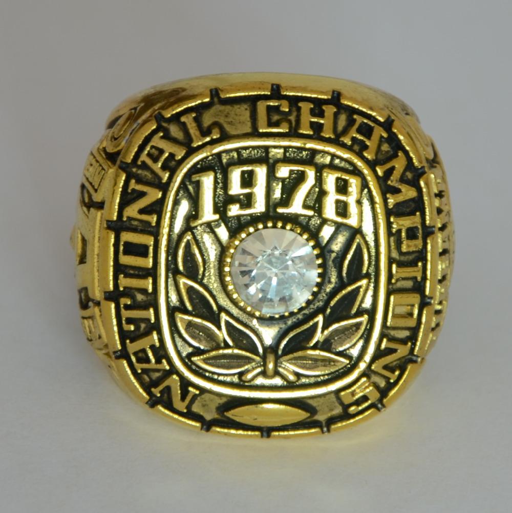 New Sport Ring Alabama Crimson Tide 1978 National Championship Ring Replica Size 11 Free Shipping,18k gold men ring(China (Mainland))
