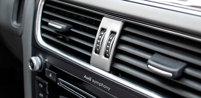 stainless steel car warning lamp panel decoration auto interior air conditioning outlet sequins. Black Bedroom Furniture Sets. Home Design Ideas