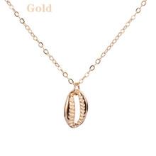 1pc New Arrival Bib łańcuch Boho plaża Sea Shell Cowrie wisiorek łańcuch naszyjniki na prezenty dla kobiet(China)
