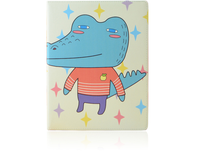 free shipping  cute korean carton protective shell and skin for ipad2/3/4 mini  case tablet pc