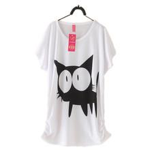 2015 New Mouse T Shirt Women T Shirts Cotton Short Sleeve Tees Women Cartoon Duck Printed T-Shirts tops Hot Shirts(China (Mainland))