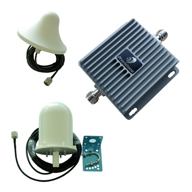 Cell Phone Signal Booster Repeater Amplifier Complete Kit 800/1900 MHz Dual Band 65db gain