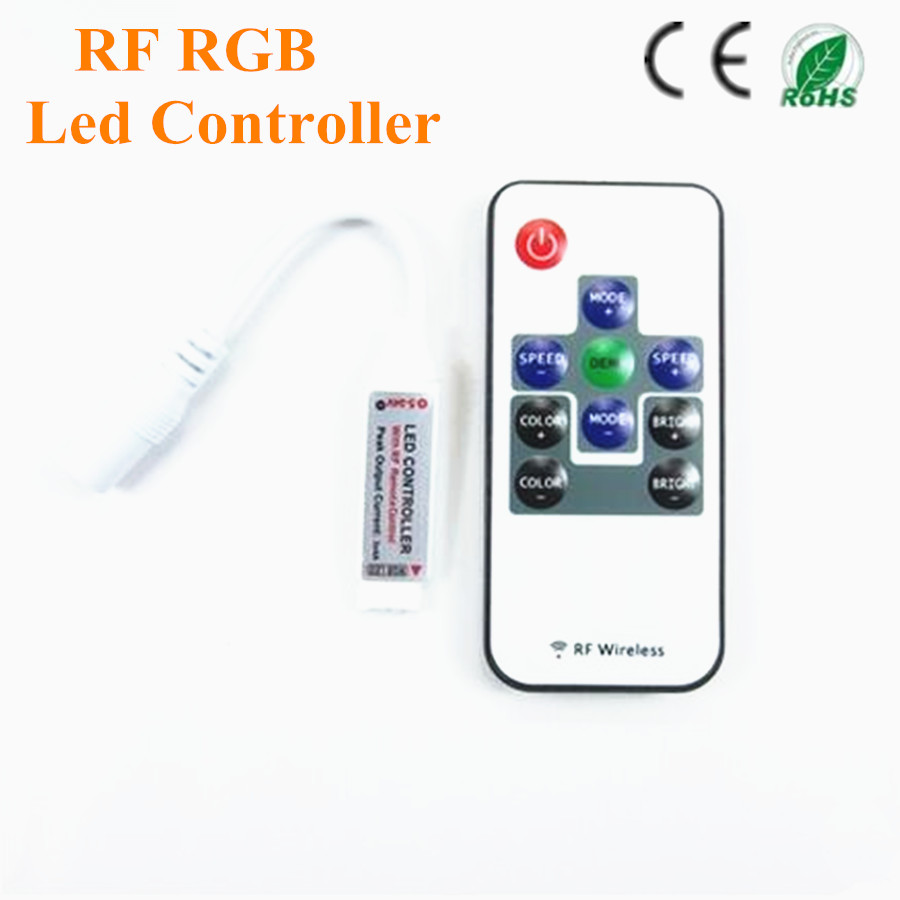 Mini RF Wireless Remote Led Dimmer Controller For RGB Light Strip SMD5630 SMD5050 SMD3528 free shipping(China (Mainland))