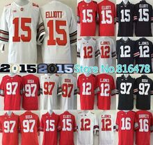 Billige Ohio State rosskastanien 12 cardale Jones 97 joey bosa trikot 15 Hesekiel Elliott j. T Barrett männer ncaa college-football-trikots(China (Mainland))