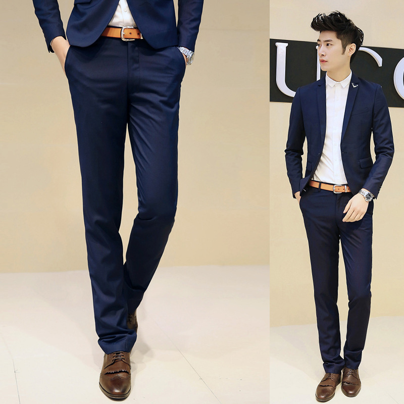 Fitted Dress Pants Men