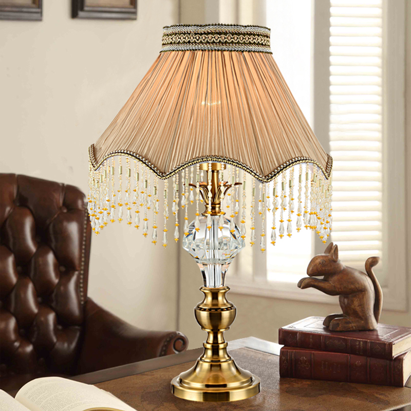 Buy Modern Table Lamp Living Room Fabric Decorative Table Lamp Bronze Bedside