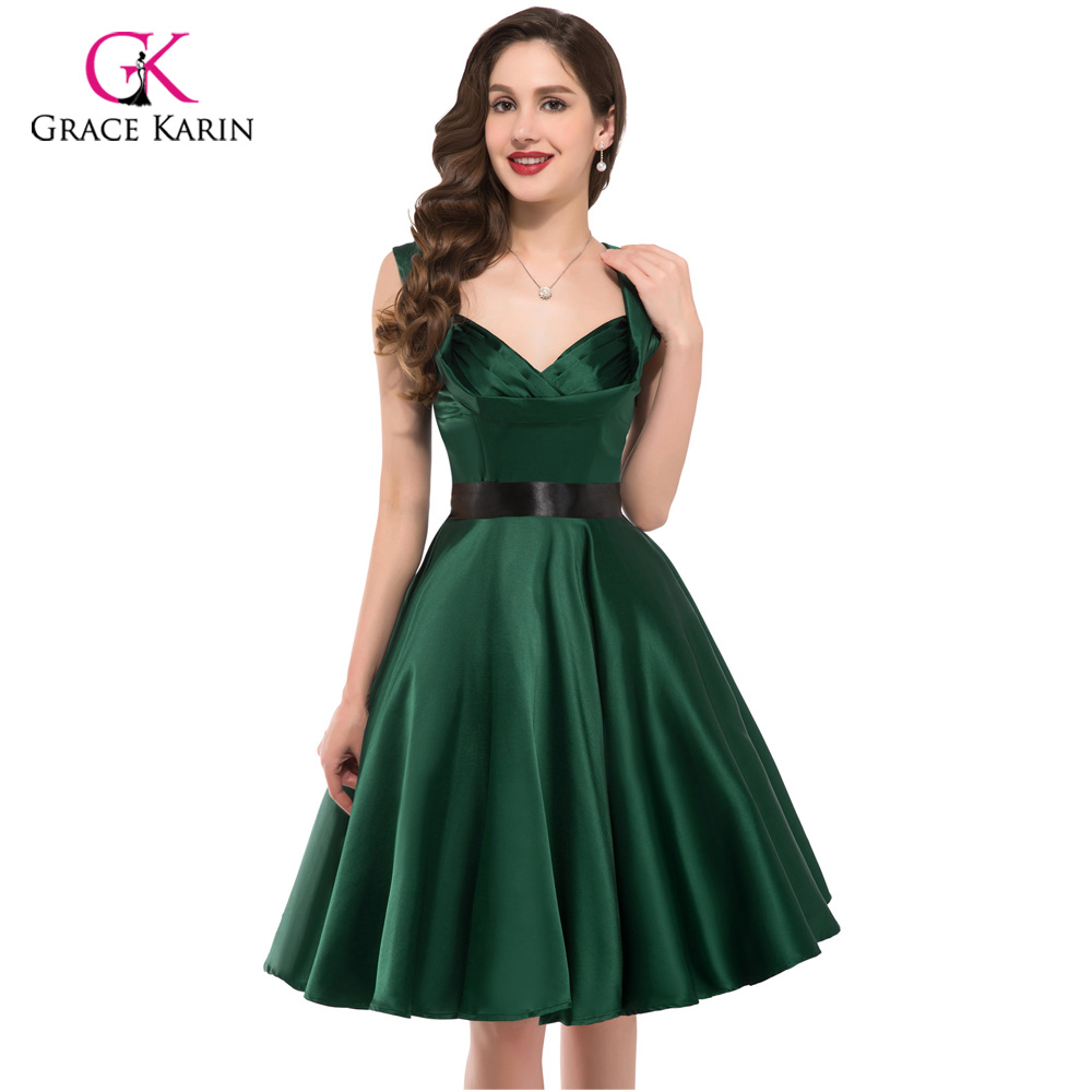 2016 Womens Party Dresses Summer Style 50s 60s Vintage ...