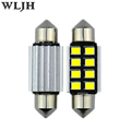 WLJH 10x LED 36mm White CANbus C5W Bulbs 2835SMD Interior Lights License Plate Light For BMW