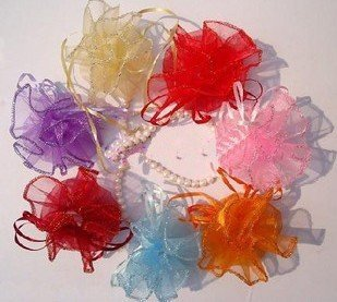 Mix Colors Jewellery Organza Round Plain Gift Bag 26cm 1300pcs/lot + Gift&Free Shipping