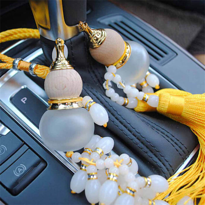 Best seller 2015 car Ornaments  Gourd Crystal Perfume Bottle Car styling Pendant Crystal Car hanging accessories(China (Mainland))
