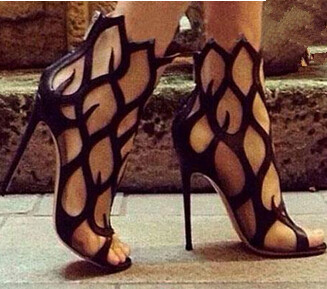 New fashion summer genuine leather gladiator party nightclub cut-outs sexy high thin heels fretwork sold women sandals shoes<br><br>Aliexpress