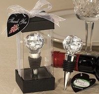 red wine bottle stopper Plugger cystal ball Exquisite gift box for wedding guests party etc  Wholesale retail