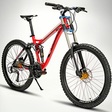 21/27 Speeds Aluminum Alloy 26 Inches Soft Tail Downhill Mountain Bike,Double Oil Disc Brake,Full Suspension(China (Mainland))