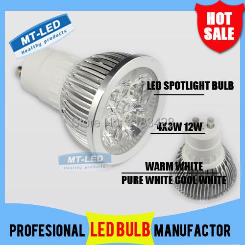 X1pcs Retail GU10 12W 110-240V CREE Dimmable Led Lamp Led spot Light Spotlight led bulb downlight lighting(China (Mainland))